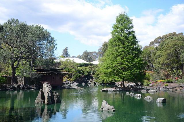Jardim japonês dos Jardins Botânicos de Auburn, Austrália