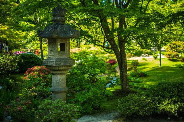 Lanterna de jardim japonês