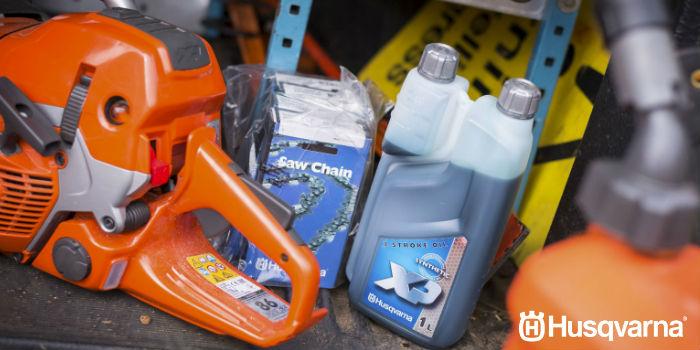 Como usar o óleo de corrente de motosserra Husqvarna